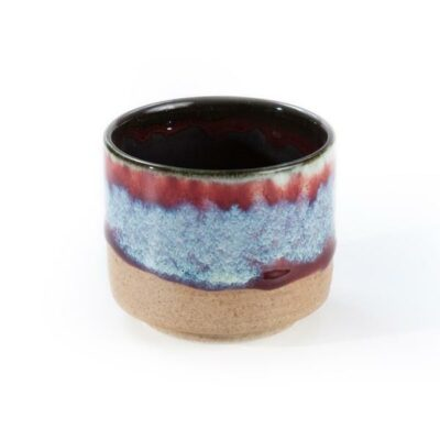 OXBLOOD AND BLACK TEA CUP